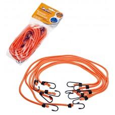 Набор резинок 6 шт: 2х60 см, 2х80 см, 2х100 см, D-8 мм, (металлические крючки), Airline AS-R-04