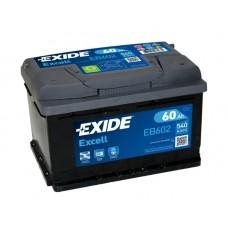 Аккумулятор Excell 60 А/ч, 540 А, Exide EB602