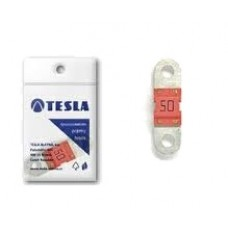 """Предохранитель 50А, плоский """"MIDI"""", Tesla FD50A"""